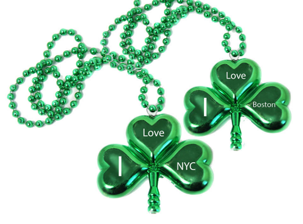 Customized Shamrock Beads   Customized Clover Beads   Customized 4 Leaf Clover Beads