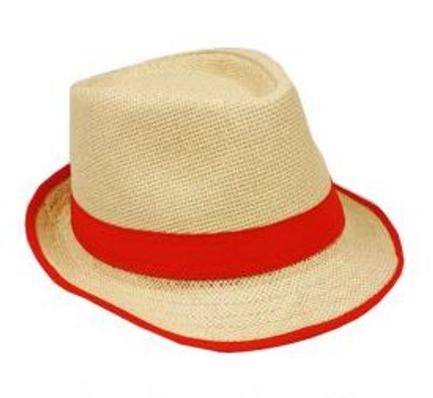12 PACK Bright Colorful Band Tan Fedoras Pick Color 1328DZC Adult Size
