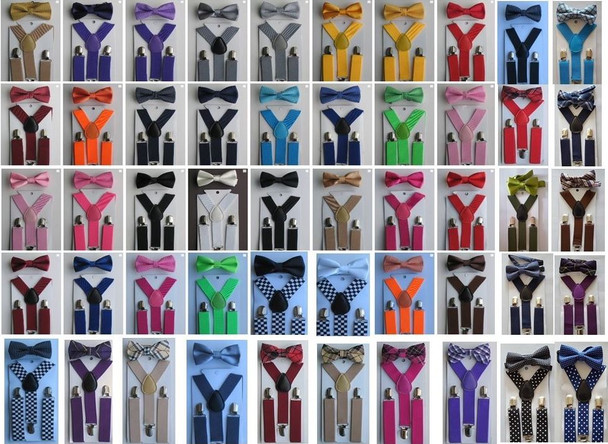 Bowtie and Suspenders | Suspender with Bowtie | SET