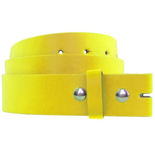 Wholesale Boys Belts |  Yellow w/ Free Buckles 12PK 2915Y
