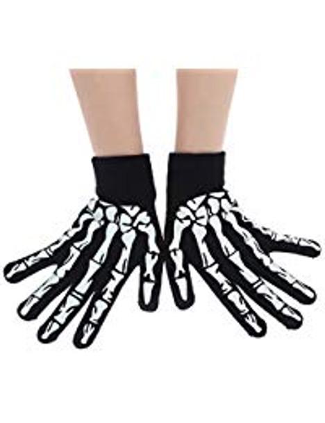 Skeleton Gloves | Skeleton Hand Gloves | Adults & Kids Size