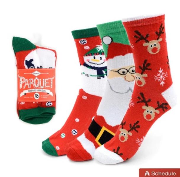 Christmas Crew Socks | Christmas Holiday Gifts | Ladies 12PK