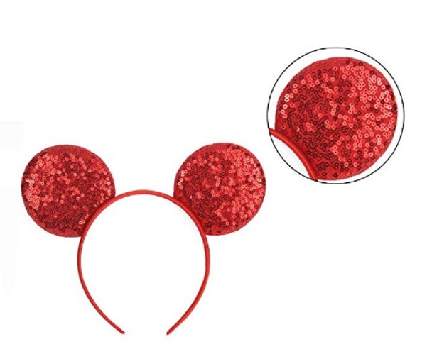 Pink Minnie Ears | Sequin Minnie Mouse Ears | 15003PI