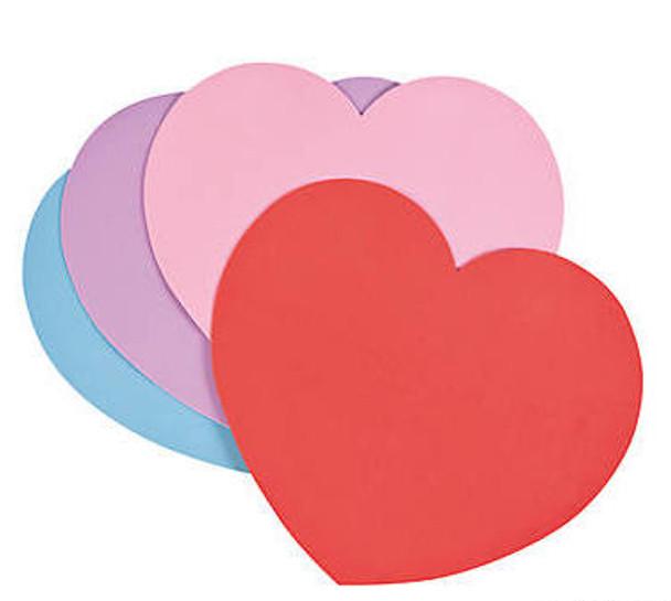 "Foam Heart Shapes |  Enormous 16 ""x 14""|  12 PACK 20002"