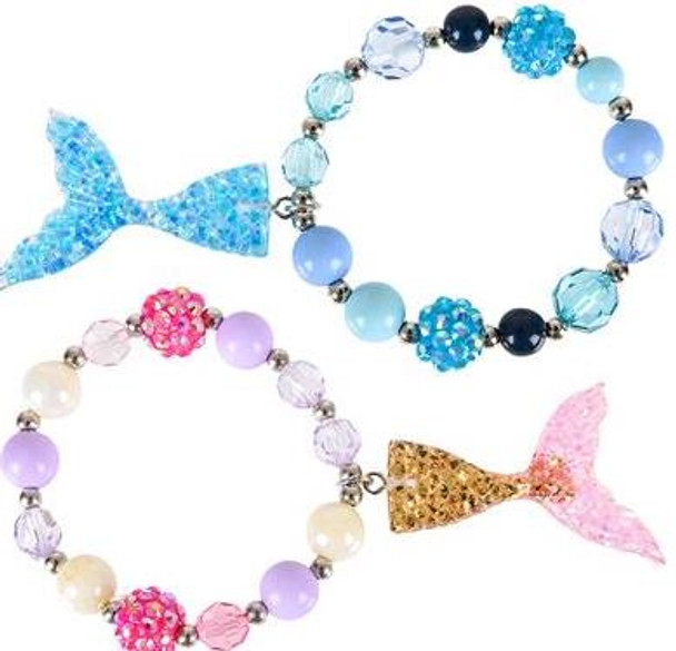 "12 PACK 7"" MERMAID TAIL BRACELETS M2003"