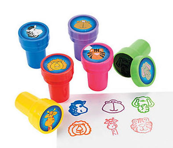 Plastic Zoo Animal Stampers 24 PACK 38439