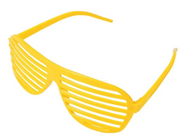 Yellow Shutter Shades 12 PACK WS1164Y