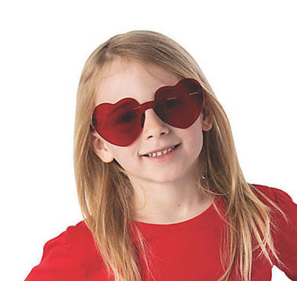 Kids Heart Glasses |  Red & Pink | 12 PACK 100% UV Superior Quality 380