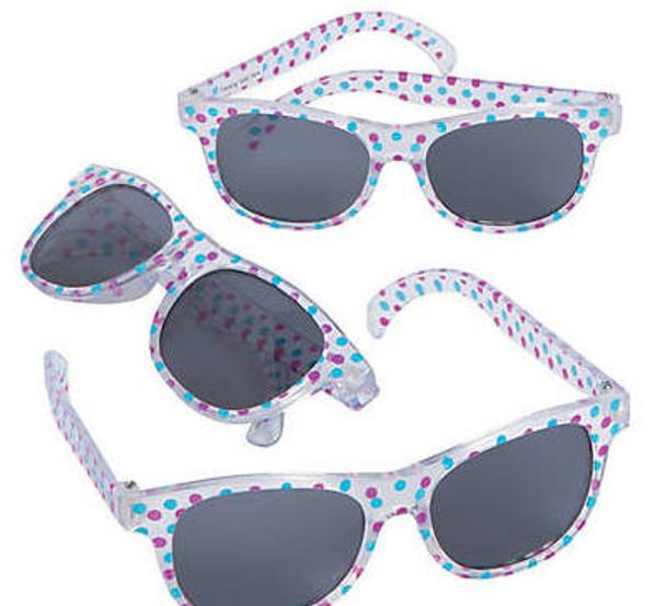 Kids Polka Dot Sunglasses 12 PACK Ages 3-9   384