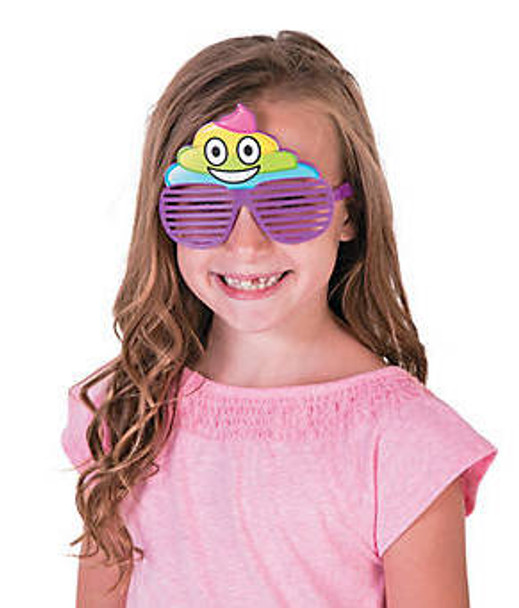 Kids Rainbow POOP Sunglasses 12 PACK Ages 3-9 | 386