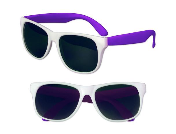 White Sunglasses Purple Legs 12 PACK Party Favor Quality 420