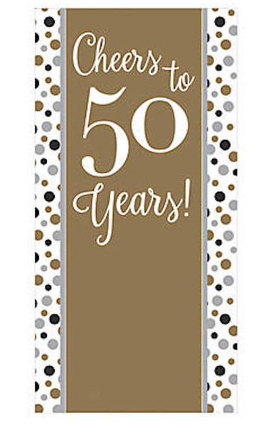 50's Birthday Banner for 50th Celebration 3 ft x 6ft 38191