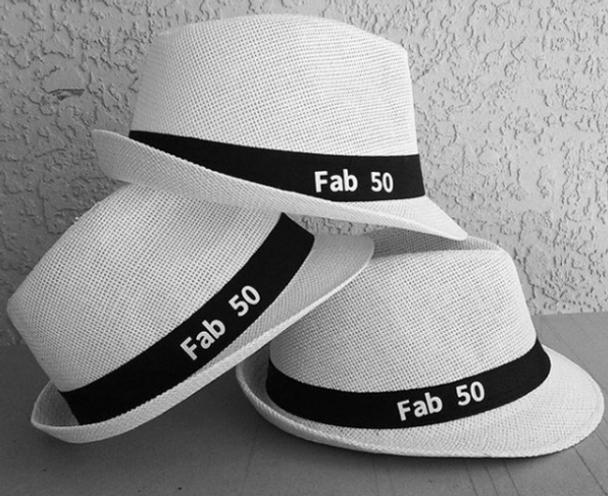 50th Birthday Hat   Custom Hat for 50th Birthday Party