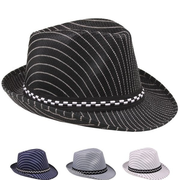 12 PACK Boys Fedora Hats | Pinstripe Fedora Hats | Bulk Child Hats |1558P