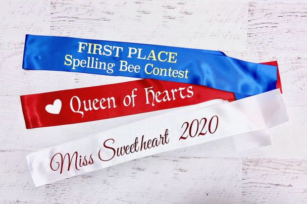Kids Sashes | Child Sashes | for Girls Beauty Paegants/ Parties 15022C Fonts in Picture Gallery