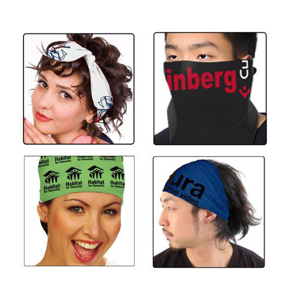 "Custom Bandanas | Customized Bandanas With Logo  |  22"" Square Standard 100% Cotton 19111"