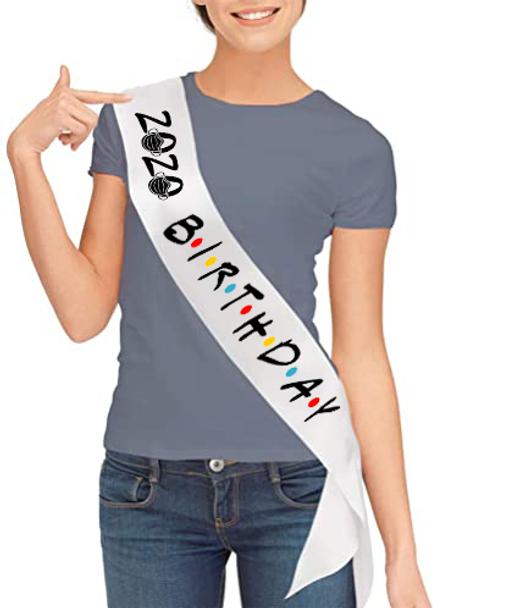 2020 Birthday Friends Sashes   Satin Sashes for Birthday