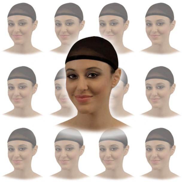"Black Hair Nets Bulk   100 Pack 12"" Width for Foodservice/Hospitals  219EF"