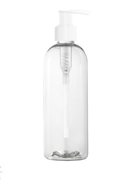 Clear Plastic Bottles |  8 OZ Lotion/Soap/Sanitizer Empty Bottle Travel USA 30271P