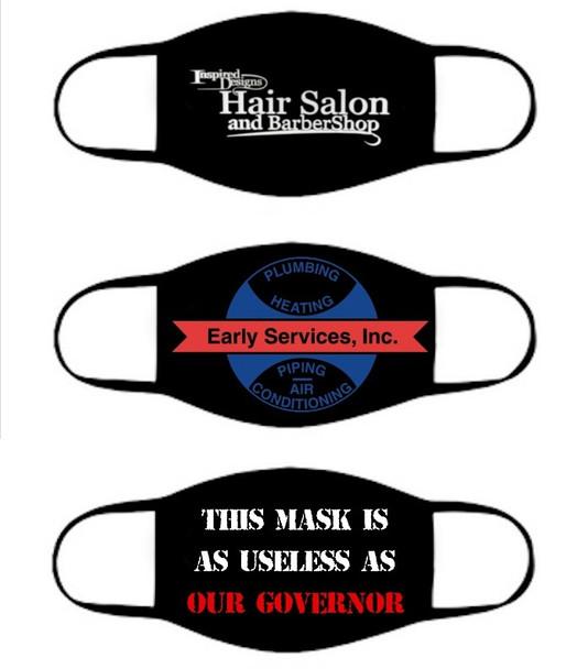 Kids Customized Cotton Face Masks | Black Double Layer Soft Cotton No Minimum70001KC