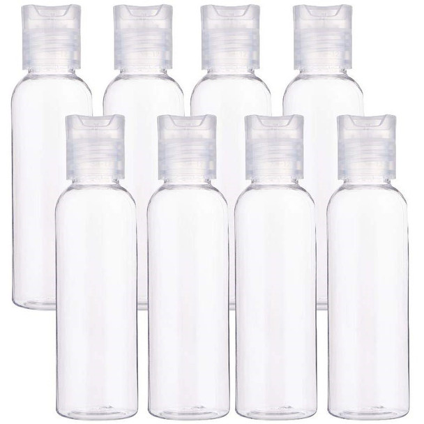 8 OZ Clear Plastic Perfume Empty Bottle Travel Makeup Sanitizer USA 302698