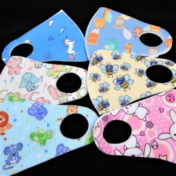 Kids Neoprene Masks 12 PACK Animal Designs