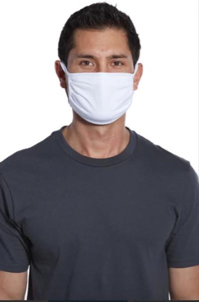 White Cotton Face Masks | Adult Size Double Ply Soft Cotton 10 PACK 70001FMBW