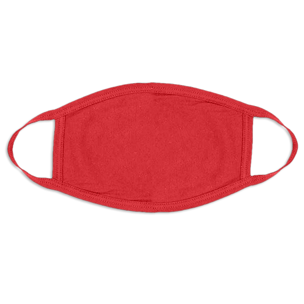 Red Face Masks Cotton |  12 PACK | Adult Size Double Ply Soft Cotton 134R