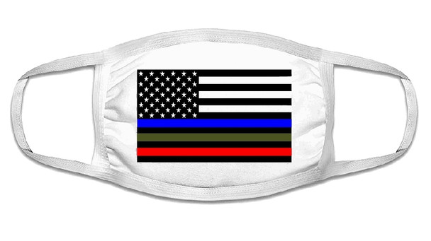 Military Lives Matter Face Mask  | Adult Double Ply Soft Cotton 763ML
