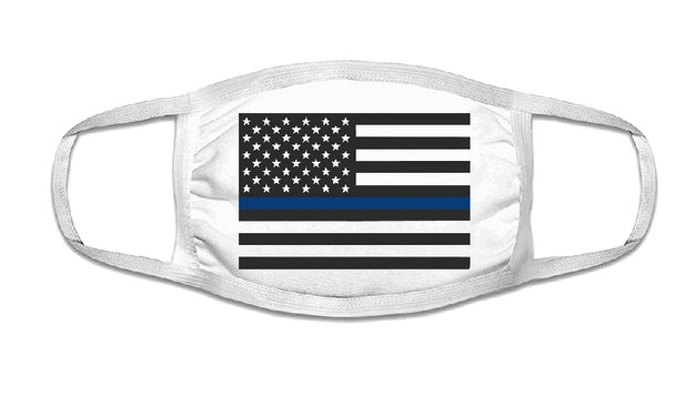 Police Lives Matter Face Mask  | Adult Double Ply Soft Cotton 763PO