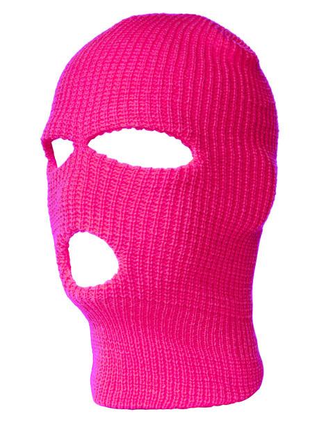 Three Hole Knit Ski Mask-  Hot Pink 3061HPI