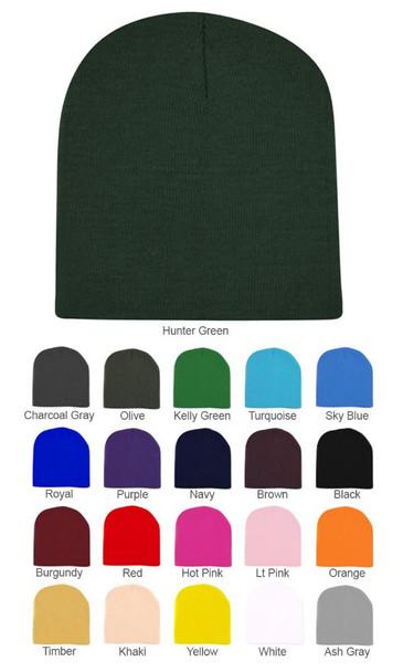 Beanie Hats Bulk |  Short 12 PACK MIX COLORS