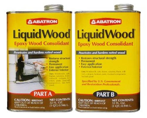 Abatron Liquid Wood Epoxy Wood Consolidant (2 Quarts)