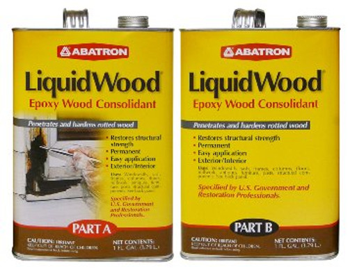Abatron Liquid Wood Epoxy Wood Consolidant (2 Gallons)