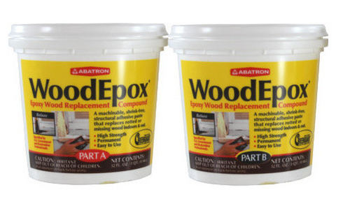 Abatron WoodEpox Epoxy Wood Replacement Compound (2 Quarts)