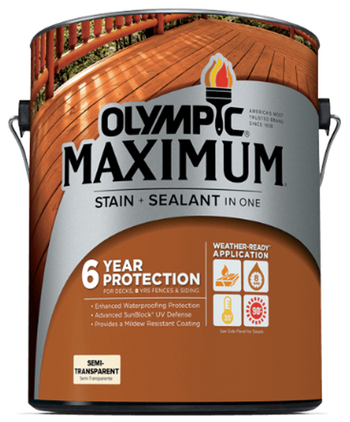 Olympic Maximum Stain and Sealant in One Semi-Transparent Gallon