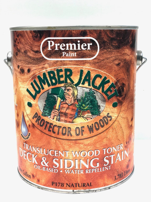 Premier Lumber Jacket Translucent Wood Toner Deck & Siding Stain Gallon