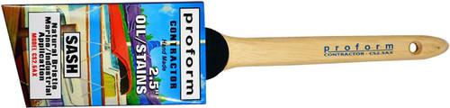 """Proform Contractor Oil 2.5"""" Angled Sash Natural Bristle"""