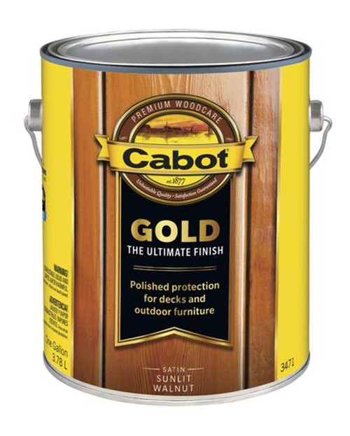 Cabot Gold Satin Sunlit Walnut Gallon