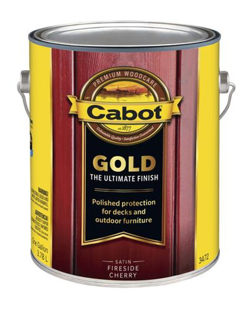 Cabot Gold Satin Fireside Cherry Gallon
