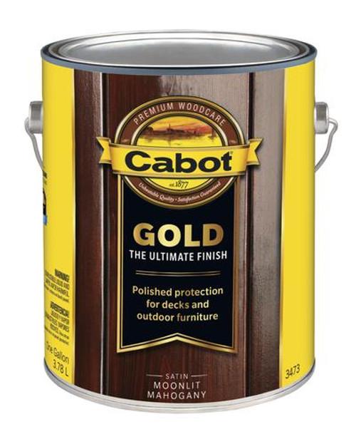 Cabot Gold Satin Moonlit Mahogany Gallon