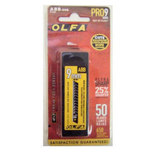 OLFA 9mm Black Ultra-Sharp Snap-Off Blades 50 Pack