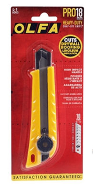 OLFA Pistol Grip Ratchet-Lock Utility Knife 18mm