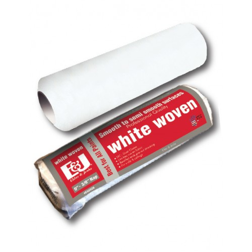 "Elder and Jenks White Woven 9"" - 1/4"" Pile Roller Cover (Case of 24)"