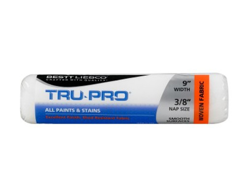 "Bestt Liebco Tru-Pro 9"" - 3/8"" Pile  White Woven Roller Cover (Case of 24)"