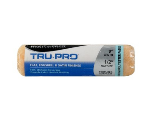 "Bestt Liebco Tru-Pro 9"" - 3/4"" Pile  Nylon/Poly Roller Cover (Case of 24)"