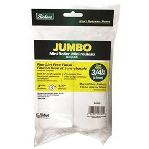 "Richard Jumbo Mini Roller 4"" - 3/8"" 2 Pack (Case of 12 2-packs)"