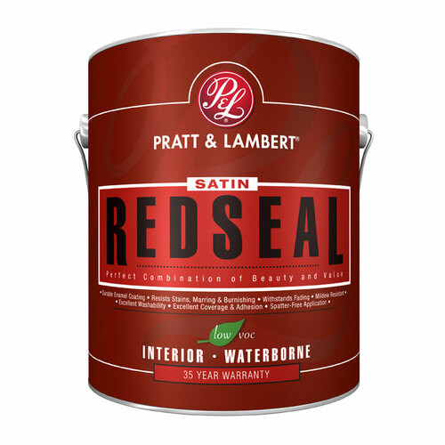 Pratt & Lambert RedSeal Aqua- Satin Interior Latex Satin Enamel Gallon