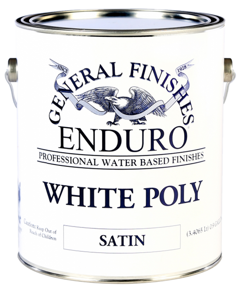 General Finishes Water Based White Poly Gallon