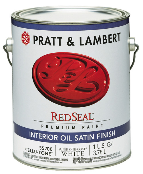 Pratt & Lambert RedSeal Cellu-tone Interior Oil Satin Enamel Gallon